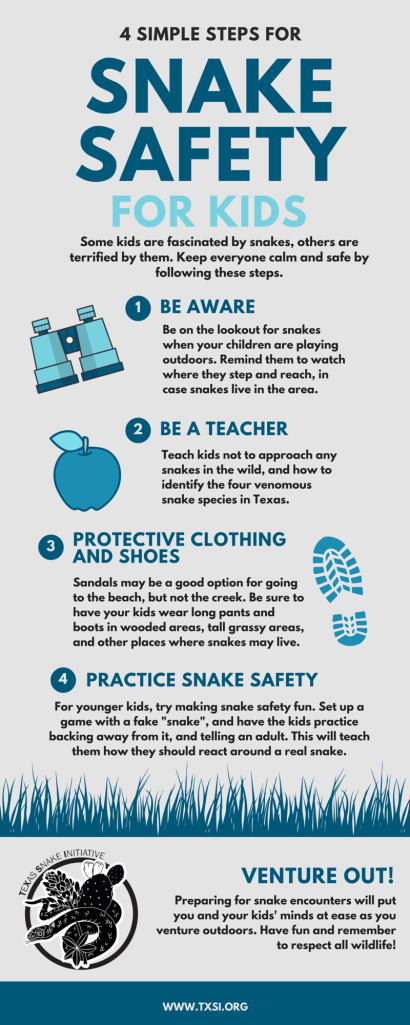 Tips to keep kids safe from snake bites Texas